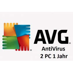 AVG Anti Virus 2 PC 1 Jahr