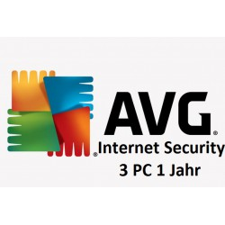AVG Internet Security 3-PC 1 Jahr