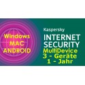 Kaspersky Internet Security MD Win-MAC-Andtoid 1 Jahr 3 Geräte