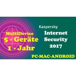 Kaspersky Internet Security MD Win-MAC-Andtoid 1 Jahr 5 Geräte