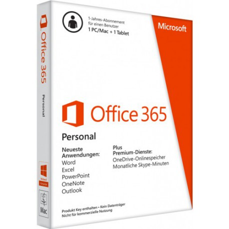 Microsoft Office 365 Personal 1-Jahr - 1 Tablet, 1 PC/Mac