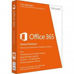 Microsoft Office 365 Home Premium 5PC o Mac 1-Jahr BOX-Vollversion