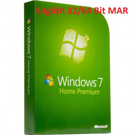 MS Windows 7 Home Premium 32/64-Bit SP1 MAR Refurbished ENGLISCH